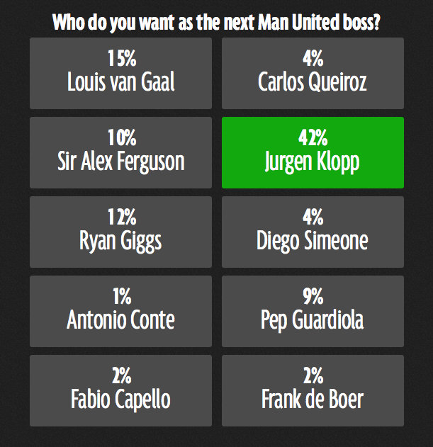 Who do you want as the next Man United boss?